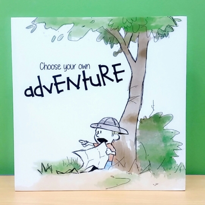Choose your own adventure - Wall art block