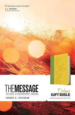 The Message : Sunlight / Grass, Leather-Look, The Bible in Contemporary Language
