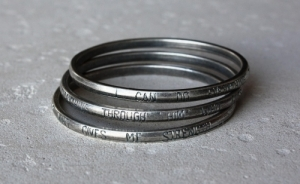 Bangle - I can do everything through him who gives me strength (65mm)