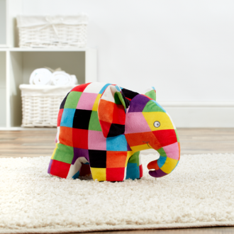 Elmer the Patchwork Elephant - plush toy