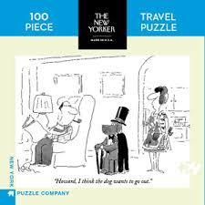 Dog Wants To Go Out - Travel Jigsaw Puzzle (New Yorker 100-piece) (TNYPC-NPZNY1614)