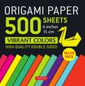 Origami Paper 500 Sheets Vibrant Colors 6 in : Tuttle Origami Paper: High-quality Origami Sheets Printed With 12 Different Colors: Instructions for 8 Projects Included