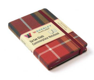 Buchanan Reproduction: Waverley Genuine Tartan Cloth Commonplace Notebook (9cm x 14cm)