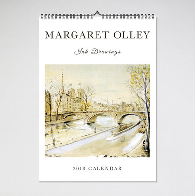 2018 Margaret Olley Ink Drawings Calendar (BIP 0014)
