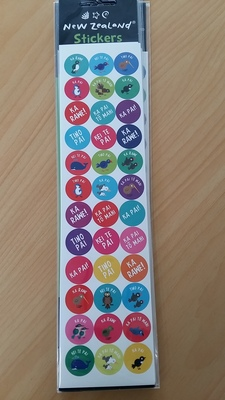 Large maori dot stickers