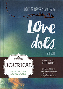 Journal Love Does Bookcloth Cover