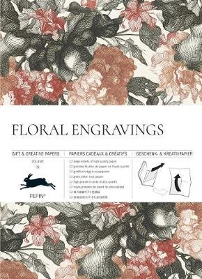 Floral Engravings Gift & Wrapping Paper Book