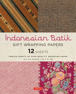 Indonesian Batik Gift Wrapping Paper (12 sheets)