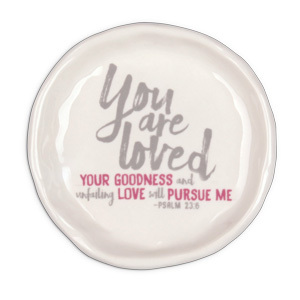Trinket Dish You Are Loved catch-all-ceramic