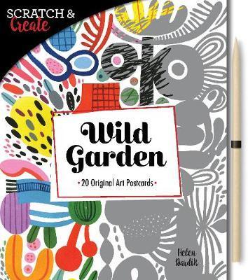 Scratch & Create: Wild Garden 20 original art postcards