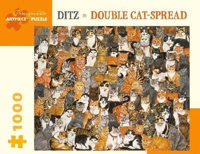 Ditz: Double Cat-Spread - 1000 Piece Jigsaw Puzzle