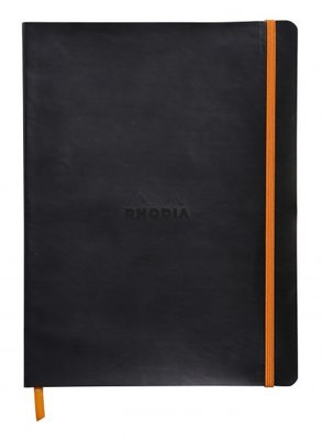 Rhodiodiarama 19x25cm Softcover Notebook Lined - Black