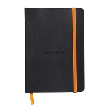 Rhodiarama A6 Lined Softcover Notebook - Black