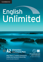 English Unlimited Elementary Coursebook With E-portfolio + Online Workbook