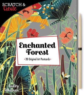 Scratch & Create: Enchanted Forest 20 Original Art Postcards