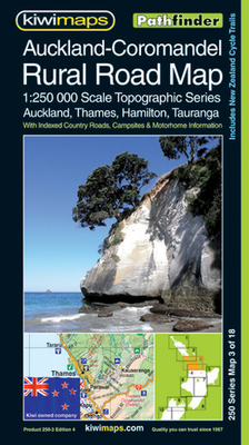 Kiwi Maps Auckland-Coromandel Rural Road Map