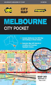 Melbourne City Pocket Map 360 17th Ed