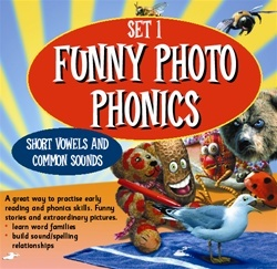 Funny Photo Phonics: Short Vowels and Common Sounds - Set 1 Teaching Guide