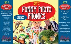 Funny Photo Phonics - Set 2 Blends - Boxed Set of 15 small books