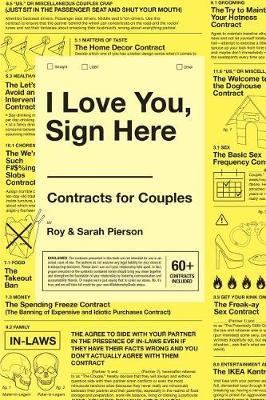 I Love You, Sign Here: Contracts for Couples