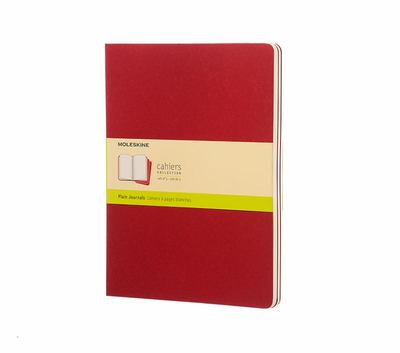 Moleskine  Plain Cahier Extra Large Maroon Set of 3