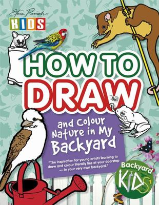 How To Draw And Colour Nature In My Backyard