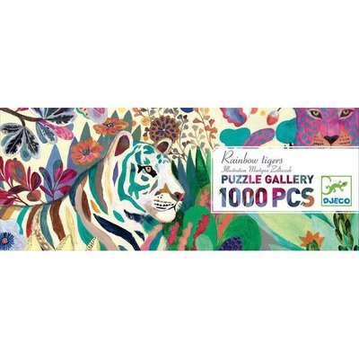 Djeco Rainbow Tiger 1000 piece puzzle