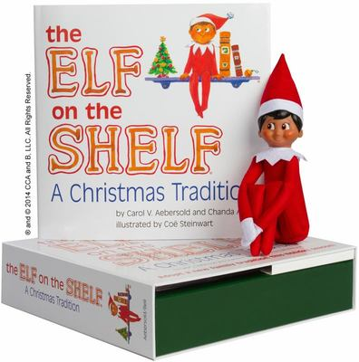 The Elf on the Shelf Boy Dark Doll with Book: A Christmas Tradition
