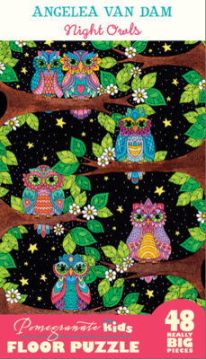Angelea Van Dam: Night Owls 48-piece Floor Puzzle