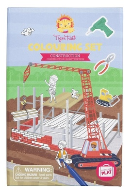 Construction Colouring Set