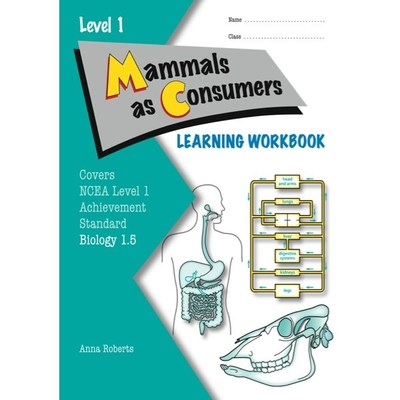 ESA NCEA Level 1 Biology AS 1.5 Mammals as Consumers Learning Workbook