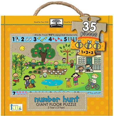 Green Start Number Hunt Giant Floor Puzzle