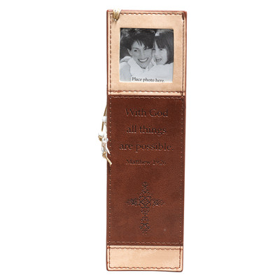 LuxLeather PageMarker with Photo Frame