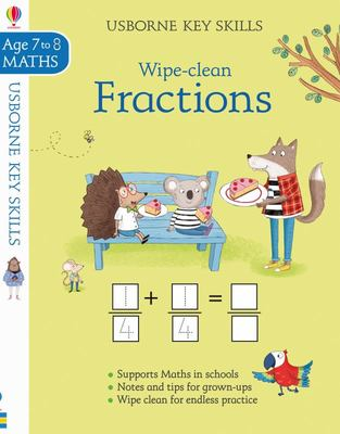 Wipe Clean Fractions 7-8 (Usborne Key Skills)