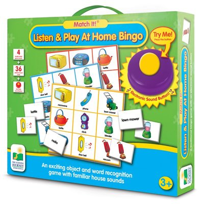 Listen and Play at Home Bingo (Match It!)