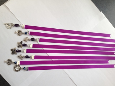 RE Bookmark - Purple Satin Ribbon