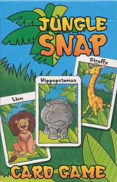 Large jungle snap card game