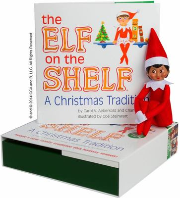 The Elf on the Shelf Girl Dark Doll with Book: A Christmas Tradition