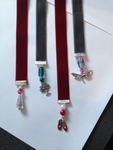 RE Bookmark - Cherry Red Velvet Ribbon