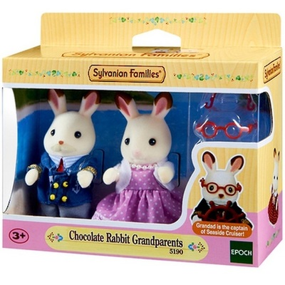 Chocolate Rabbit Grandparents - Sylvanian Families