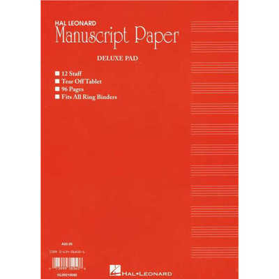 ST283 Manuscript Pad 96 page Red