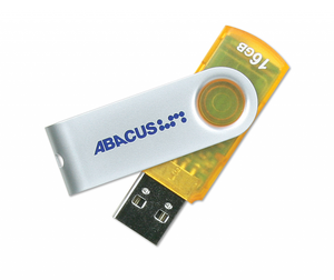 Flash Drive USB 2.0 16GB with keyring attachment and 5 year warranty - Abacus