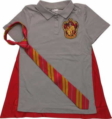 Harry Potter Gryffindor Caped Polo L