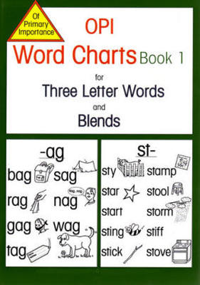 OPI Word Charts Book 1 for 3 Letter Words and Blends