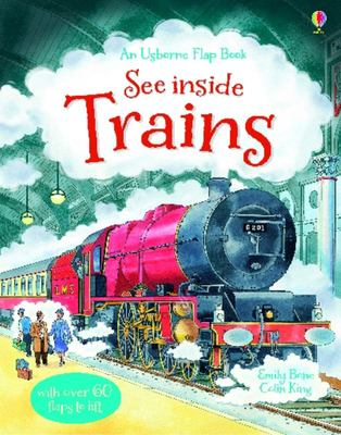 See Inside Trains (Usborne Lift-the-Flap Board Book)