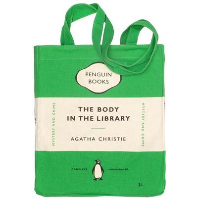 Penguin Tote Bag: The Body in the Library (Green)