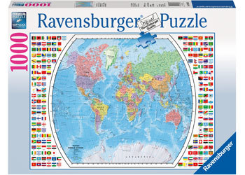 Political World Map Puzzle 1000pcs