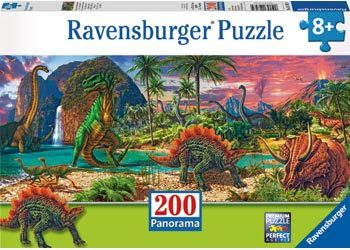 In the land of the Dinosaurs Puzzle 200pcs