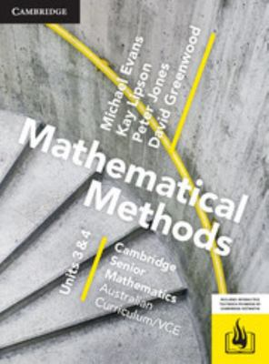 Cambridge VCE Senior Math Methods Units 3&4 (Textbook and Digital Hotmaths)