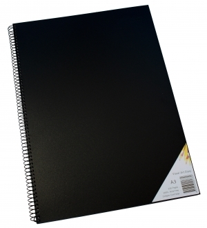 Visual Diary A3 110gsm 60 leaf Black Cover Quill - 78739 - GNS